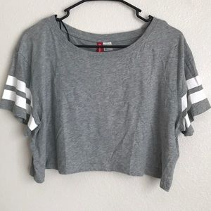 H&M divided brand sporty crop